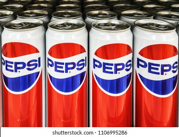 BANGKOK/THAILAND- JUNE 01th 2018: New product of Pepsi Co company with vintage logo On the shelves in the store.