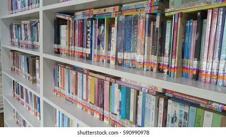 bangkok,Thailand - March 02, 2017: THE SAC LIBRARY Many book in library on the march 02 2017 in bangkok thailand