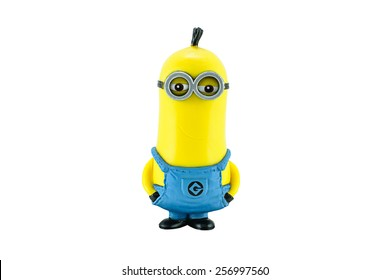 Bangkok,Thailand - March 1, 2015: Minion Tim figure toy character from Despicable Me animation movie. Despicable Me is a comedy film from Universal Pictures and Illumination Entertainment.
