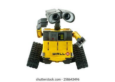 Bangkok,Thailand - March 1, 2015: WALL-E robot toy character form WALL-E animation film by Disney Pixar Studio.