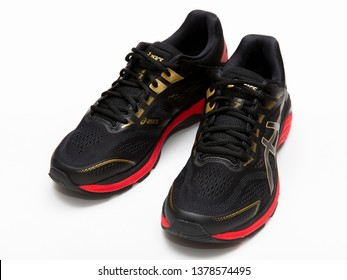 Bangkok,Thailand - March 13, 2019:ASICS Running Shoes GT-2000 7 isolated on white, ASICS is a Japanese multinational corporation athletic equipment company which produces footwear and sports equipment