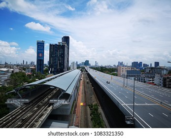 Bangkok,THAILAND - May 01,2018:High angle of Bang Sue Station MRT.