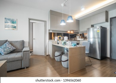 Bangkok/Thailand - May 13 2019 : kitchen corner in modern condominium