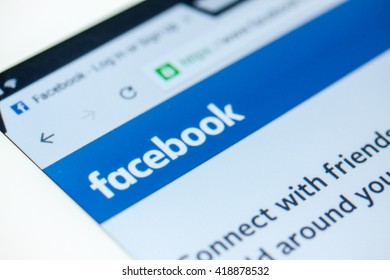 BANGKOK,THAILAND - May 8,2016:Facebook homepage, one of the biggest social network websites.