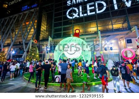 bangkokthailand nov 2018 christmas and new year 2019 theme party at central