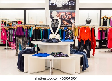 BANGKOK,THAILAND - NOVEMBER 19, 2013 : Bebe clothing section in a supermarket Siam Paragon. With 300,000 sqm of retail space Siam Paragon is one of the world's largest malls