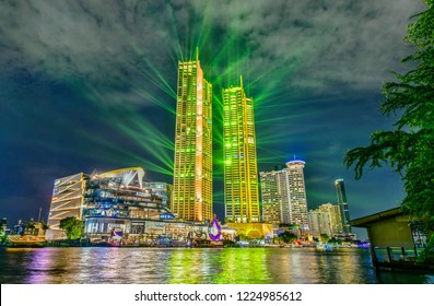 """Bangkok,Thailand - November 9,2018 :The opening of """"ICONSIAM"""", a global destination in Thailand on the 9th of November.A new global landmark on chao phraya river in Bangkok"""