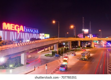 Bangkok,Thailand - Oct 8,2017: Mega Bangna is a large shopping mall in Bangkok. It is the fist horizontal shopping center in Asia with the area of 400,000 sq.m.
