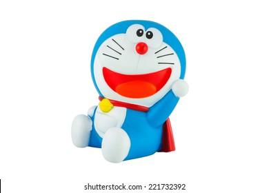 Bangkok,Thailand - October 2, 2014: Doraemon toy figure character in Doraemon movie series and television cartoon.