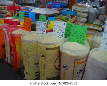 Bangkok,Thailand on May 24, 2018, People buy and selling things at fresh market, showing finanial situation in thailand deal to the ?increasing price of comsumer. and how people deal to the situation