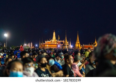 Bangkok/Thailand -Sep 19 2020: Anti-government protest in Bangkok, Thousands of people have protested for reform of the political system, including the role of the monarchy at Snam-Luang