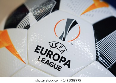 BANGKOK,THAILAND -SEPTEMBER 3: Close-Up on Molten Uefa Europa League 2019 Match Ball on September 3,2019