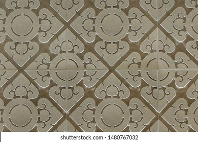 BANGKOK,THAILAND-11 AUG 2019:close up of traditional thai pattern at MRT Sanam chai station in Bangkok,Thailand