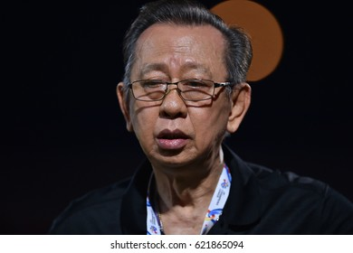 BANGKOK-THAILAND-12APR,2017:Ravi lothong Chairman of the Advisory of SCG muangthong in action during AFC competition between MTUTD and Ulsan hyundai at SCG Stadium,Thailand