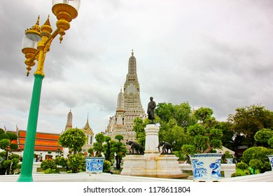 BANGKOK,THAILAND-26 AUGUST;2018: The foreigner tourist visit at Wat Aroon temple beside the Chaophraya river