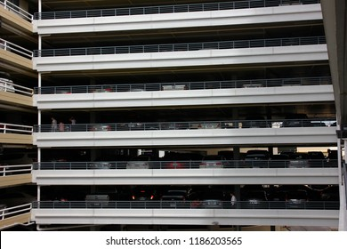 BANGKOK,THAILAND-26 AUGUST;2018:The car park building of department store