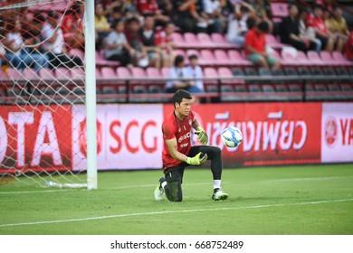 BANGKOK-THAILAND-28jun,2017:Kawin thammasatchanan Player of SCG muangthong in action during thaileague competition between MTUTD and chonburi fc at SCG Stadium,Thailand