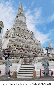 BANGKOK,THAILAND-30 SEP 2018:Wat Arun, the temple of Dawn.Wat Arun is a Buddhist temple in Bangkok.Wat Arun is among the best known of Thailand's landmark.