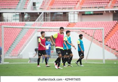 BANGKOK-THAILAND-30MAY,2016:Bordin pala player of thailand national team in action during training at rajamangkala Stadium in bangkok Thailand on 30 may 2016