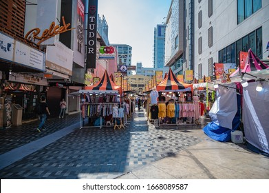 Bangkok/thailand-31 dec 2019:Unacquainted people walking in siam square market stall at bangkok city thailand.Siam Square is a shopping and entertainment area in the Siam area of Bangkok