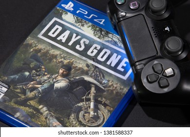 BANGKOK,THAILAND-APRI: 26: The New Days Gone PS4 Game on Play Station 4 Cpnsole on April 26,2019