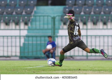 BANGKOK,THAILAND:APRIL;2016:Phusit khumsakun of Army FC during football Toyota League cup between Army FC and BURIRAM UTD. , at Army Stadium on April 10,2016:Thailand.