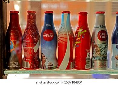 BANGKOK-THAILAND-AUGUST 12 : Decorative of Coca cola collection at the Ban Bangkhen resort, August 12, 2019 Bangkok, Thailand.