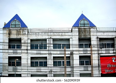 BANGKOK-THAILAND-AUGUST 27, 2015 : The texture of the vintage building near the road on August 27, 2015 Bangkok, Thailand.