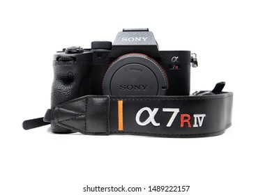 BANGKOK,THAILAND-AUGUST 27: Close-Up on The New Sony A7riv on August 27,2019