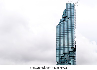 BANGKOK,THAILAND-AUGUST 29,2016 : Designed to fit into the Thai landscape with a unique pixelated facade, located in the Silom/Sathon central business area of Bangkok, Thailand.