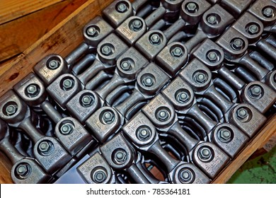 BANGKOK-THAILAND-AUGUST 8 : Steel hardware for fitting electrical cable with steel tower, August 10, 2016 Bangkok, Thailand