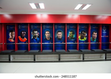 BANGKOK,THAILAND-DECEMBER 05: Athletic dressing rooms team of Team Cannavaro during the Global Legends Series match, at the SCG Stadium on December 5, 2014 in Bangkok, Thailand.