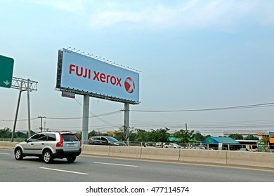 BANGKOK-THAILAND-FEBRUARY 2 : The Billboard near the road, February 2 2016 Bangkok, Thailand