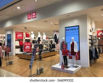 Bangkok,Thailand-Jan. 28, 2017. inside of Uniqlo store. Uniqlo Co., Ltd. is a Japanese casual wear designer, manufacturer and retailer.