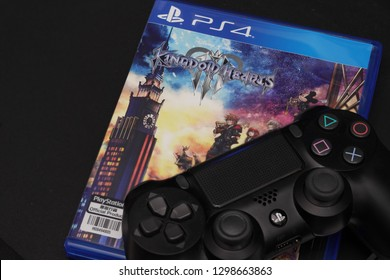 BANGKOK,THAILAND-JANUARY 29: The New Launched Kingdom Heart s3 PS4 Game on Play Station 4 Console on January 29,2019