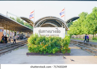 Bangkok,Thailand-JUL 31, 2017 : Bang Sue Junction Railway Station Signs. BangSue Junction is a railway station and junction located in Bangkok.