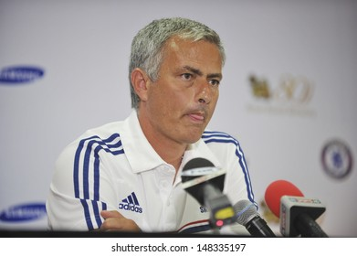 BANGKOK,THAILAND-JULY 17: Manager Jose Mourinho in press conference after the international friendly match Chelsea FC and Singha Thailand All-Star at the Rajamangala Stadium on July17,2013 inThailand.