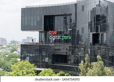 BANGKOK,THAILAND-JULY 18: View of The New True Digital Park Building in Bangkok Thailand on July 18,2019
