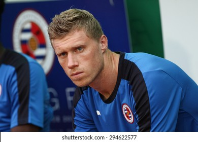 BANGKOK,THAILAND-JULY 8:Pavel Pogrebnyak of Reading FC in action during  Reading FC Thailand Tour 2015 between Thailand Allstars and Reading FC at National Stadium on July 8, 2015 Bangkok Thailand.