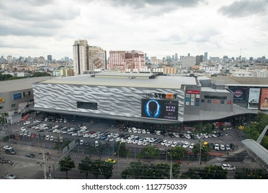 BANGKOK,THAILAND-JULY,5: Ariel View of The Street Shopping Mall on Ratchada Road in Bangkok Thailand on July 5,2018