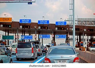 BANGKOK-THAILAND-JUNE 22 : Traffic on the highway in the city of Bangkok, June 22, 2016, Bangkok, Thailand