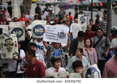 Bangkok,Thailand,may,2016,22,The New Democracy Movement a political movement group demonstrate for 2 year anniversary coup in Thailand at democracy monument