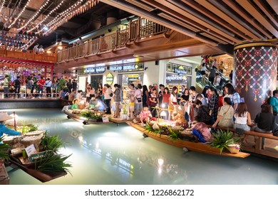 BANGKOK,THAILAND-NOVEMBER 11 :Interior View of The ICONSIAM, The New Shopping Mall with Apple Store in Bangkok Thailand  on November 11,2018.