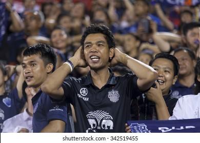 BANGKOK,THAILAND:November;2015:President, celebrating the championship in football Toyota League cupbetween Sisaket FC and BURIRAM UTD. , at Supachalasai Stadium on November 21,2015:Thailand.
