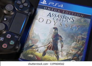 BANGKOK,THAILAND-OCTOBER 10: The New Launch PS4 Game Assassin Creed Odyssey available to Purchase at the store on OCTOBER 10,2018
