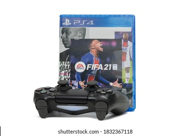 BANGKOK,THAILAND-OCTOBER 12: The New FIFA Football 2021 game on PS4 Console on October 12,2020