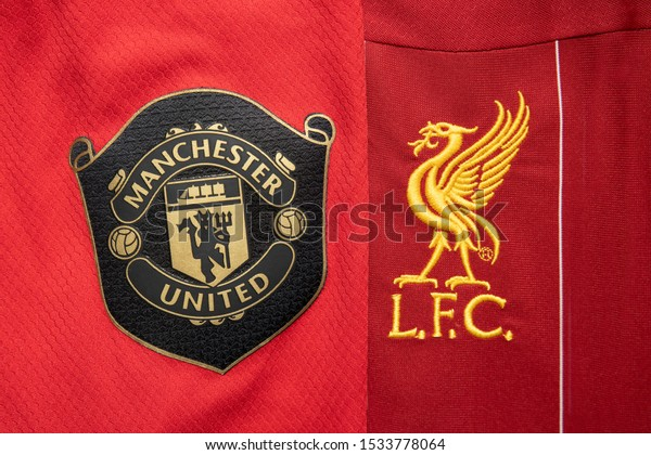 Bangkokthailandoctober 17 Logo Manchester United Liverpool Stock Photo Edit Now 1533778064