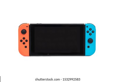 BANGKOK,THAILAND-OCTOBER 17: View of Nintendo Switch Game Console on October 17,2019