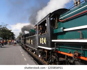 Bangkok,Thailand-October 23, 2008: A special steam train at Bang Sue station in Bangkok
