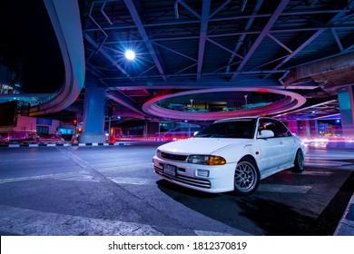 Bangkok,Thailand-September 2020 : Mitsubishi Lancer 1995 GLXi 1.6